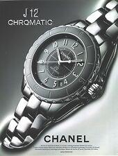 PUBLICITE ADVERTISING 2010  CHANEL montre la J12 CHROMATIC