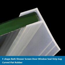 F-shape Bath Shower Screen Door Window Seal Strip Gap Curved Flat Rubber 6-12mm
