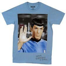 Star Trek Spock Photo Vulcan salute Leonard Nimoy Licensed Adult Shirt S-XXL
