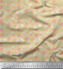Soimoi Fabric Dot & Cupcake Food Print Sewing Fabric Meter-FD-505L