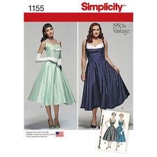 SIMPLICITY Sewing Patterns~1155 Misses Women Ladies Plus VINTAGE 50s Dress 10-18
