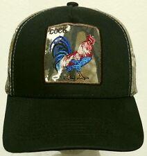 PATCH CAMO FOWL ROOSTER CHICKEN COCK GALLO FARM AMERICAN MEXICO MEXICAN CAP HAT