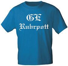 T-Shirt unisex S M L Xl Xxl Shirts mit Druck GE Ruhrpott 09835