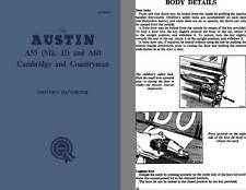 Austin 1962 - Austin A55 (Mk. II) and A60 Cambridge and Countryman Driver's Hand