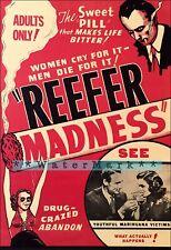 Reefer Madness 1936 Cult Classic Marijuana Film Vintage Poster Print Retro Art
