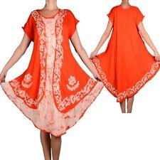 Ibiza Summer Layered Look Tunic Dress Beach Print 42 44 46 48 50 52 L XL Shirt