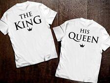 T SHIRT innamorati maglietta the king his queen happiness amore personalizzabile