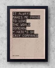 """Jack kerouac - """"big sur"""" citation poster-beat generation, sur la route love hate"""