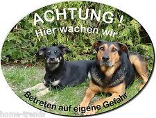 Mischling-Hund-Alu-Schild-20 x 15 cm-3 mm dick od. Folie-Warnschild-Hundeschild
