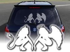 Aufkleber Engel und Teufel fürs Auto Heckscheibenaufkleber Klebefolie Vinylfolie