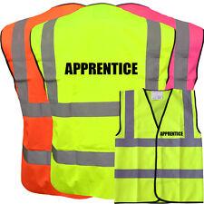APPRENTICE YELLOW HI VIZ VIS WAISTCOAT VEST SAFETY WORKWEAR STAG PARTY BOSS