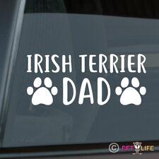 Irish Terrier Dad Sticker Die Cut Vinyl - red dog