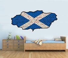 Escocés Bandera Graffiti Pared Ladrillos Arte