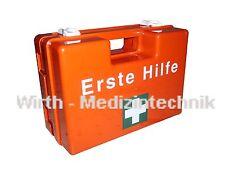 Erste Hilfe Koffer leer Verbandskoffer Verbandskasten Orange mit Wandhalterung