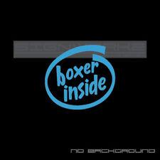 boxer inside Decal intel inside Sticker subaru jdm awd turbo funny pair