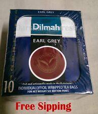 Dilmah Individually Foil Warapped 10 Tea Bag,Earl Gray,Blackcurrant,Lemon,and Mo