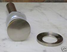 Bathroom Vessel Sink Pop Up Drain no Overflow Brush Nickel  + Mounting Ring