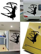 Rhythmic gymnastics, gymnast sticker vinyl cut. Pegatina vinilo Gimnasia Ritmica