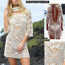 Vestito Mini Copricostume Schiena Nuda Donna Woman Mini Cover up Dress COV0031
