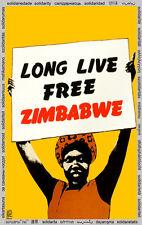 Solidarity POSTER quality print.Long Live Zimbabwe.Political art.Home Decor.q835