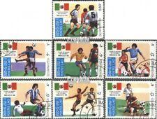 Laos 813-819 (kompl.Ausg.) gestempelt 1985 Fußball-WM 1986, Mexiko EUR 2,50