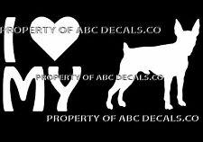 VRS LOVE My Dog Toy Fox Terrier Heart Puppy Adoption Car Decal Vinyl Sticker