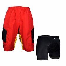 Men's MTB Cycling Mountain Bike Baggy Loose Fit Plus 3D Coolmax Padded Underwear