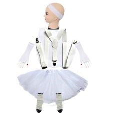 White 5 Set TUTU Skirt pant Braces Headband Necklace Gloves Socks party