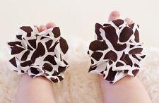 Infant Baby Girl feet 1 pair Zebra Leopard Toddler Barefoot Ring Sandals Shoes
