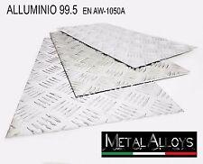 Lamiera Mandorlata Alluminio spessore 2mm e 3mm in IN DIVERSE DIMENSIONI Lamina