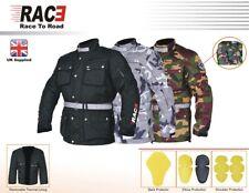 RAC3 Men's Motorcycle Camouflage Jacket Waterproof Textile Cordura CE Armoured