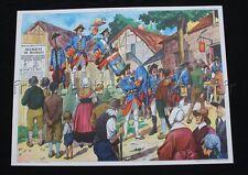 C046 Affiche Scolaire vintage Soldats Louis XIV Jean Bart voilier Rossignol +