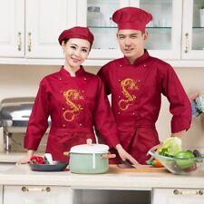 Hombre Mujer Dragón Chino Impresión Chef Prendas de Vestir Uniforme Chaqueta