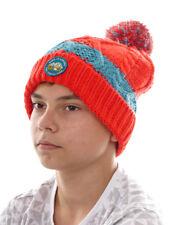 O` Neill Beanie Bonnet de ski avec pompon Born to Explorez rouge maille épaisse