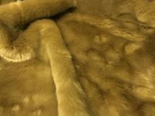 Super Luxury Faux Fur Fabric Material - PLUSH TEDDY BROWN