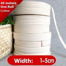 49 Meters 1-5cm Wide Cotton Bias Binding Tape DIY Sewing Edging Ribbon Trimming