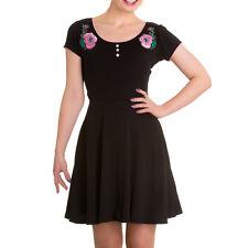 New Black Pink Rose Spooky Eyeball Dress XS S M L XL Hellbunny HORROR PUnk