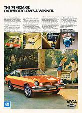 1974 Chevrolet Vega GT - winner - Classic Vintage Advertisement Ad PE91
