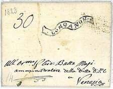 LOMBARDO VENETO - PREFILATELICA: da LONGARONE a VENEZIA 1823 - BELLISSIMA!!