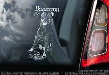 Beauceron on Board - Car Window Sticker -  Shepherd Dog Sign Bumper Decal - V03