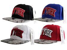 C G NY New York SNAPBACK SNAKESKIN Flat Peak Cap Hat Snap Back