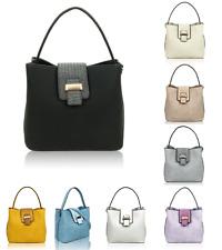 Ladies Square Shape Small Shoulder Handbag Snakeskin Print Snap Messenger Bag