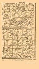 Civil War Map - Kentucky Tennessee Missouri & Arkansas - PLUM  1882 - 23 x 40.99