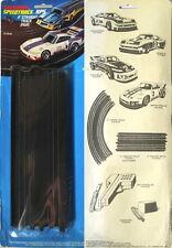"2 1978 Matchbox TCR RPS HO Slot Car 9"" Straight Tracks"