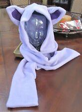 Pokemon Espeon lander/purple ear scarf hoodie hat in 6 sizes