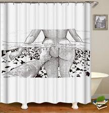 "Sex Buttocks Waterproof Fabric Shower Curtain Bathroom Curtain with Hooks70""x70"""