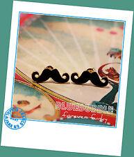 FUNKY MOUSTACHE EARRINGS CUTE KITSCH RETRO 70s 80s BOHO CHIC TASH FUN VINTAGE UK
