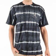 HUF 12 Galaxies Lightning Stripe t-shirt camisa Tie Dye negro Print ts53065