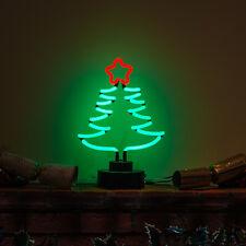 Fait à la Main Sapin de Noël Clair Lampe de Table Norvégien Épicéa Néon Signe (