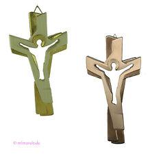 Passionskreuz Wandkreuz Holzkreuz Holz Kreuz Passion in natur und gold